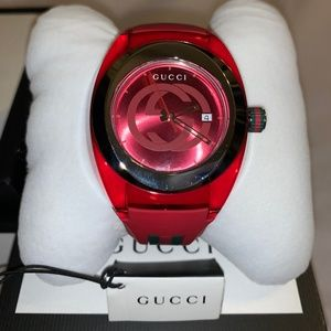 Gucci watch Unisex Rubber Red 46mm Watch YA137